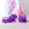 Тапки-игрушки единороги фиолетовые